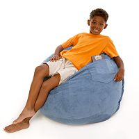 Fun Furnishings Small Microsuede Beanbag Chair - Kids