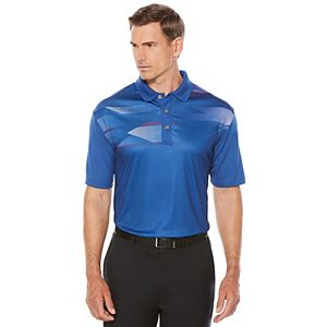 Men's Grand Slam Regular-Fit Hexagon Airflow Stretch Performance Golf Polo!