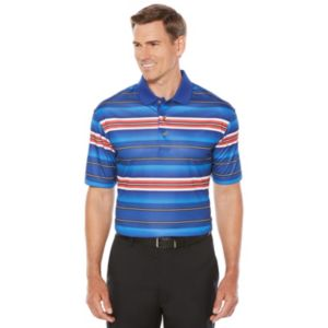 Men's Grand Slam Regular-Fit Striped Motionflow Stretch Performance Golf Polo