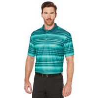 Men's Grand Slam Regular-Fit Striped Driflow Stretch Performance Golf Polo