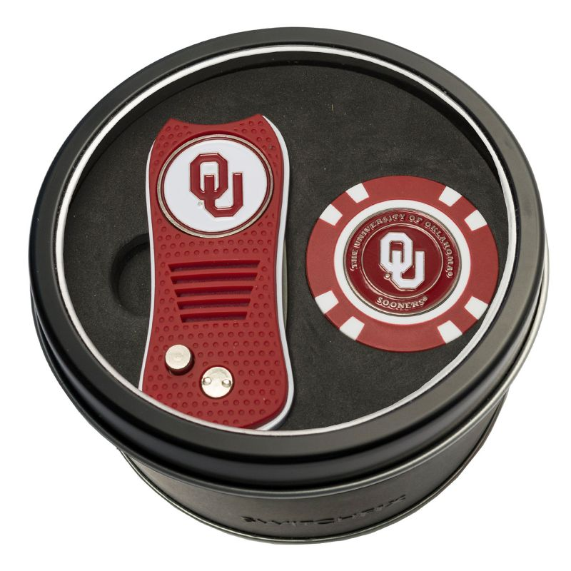 Team Golf Oklahoma Sooners Switchfix Divot Tool & Golf Chip Set, Multicolor thumbnail