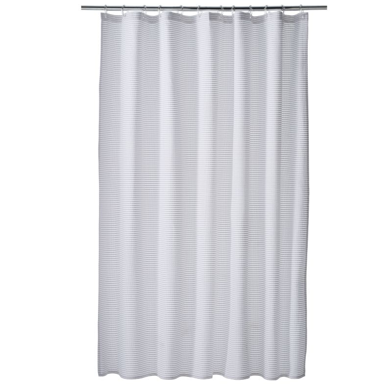 Home Classics® Orrin Woven Shower Curtain, White thumbnail