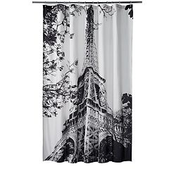 Home Classics Paris Noir Shower Curtain by