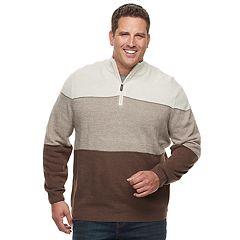 Big & Tall Dockers Classic-Fit Colorblock Quarter-Zip Sweater