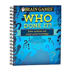 Brain Games Who Done It? Puzzle Book by Publications International, Ltd. by