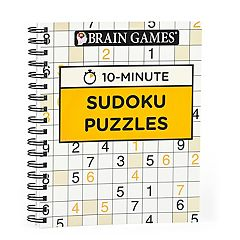 Brain Games 10-Minute Sudoku Puzzle Book by Publications International, Ltd. by