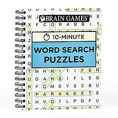 Brain Games 10-Minute Word Search Puzzle Book by Publications International, Ltd. by