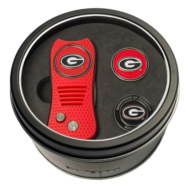 Team Golf Georgia Bulldogs Switchfix Divot Tool & Two Ball Markers, Multicolor thumbnail