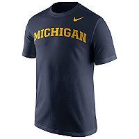 Men's Nike Michigan Wolverines Wordmark Tee
