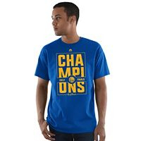 Men's Majestic Golden State Warriors 2017 NBA Champions Court Vision Tee