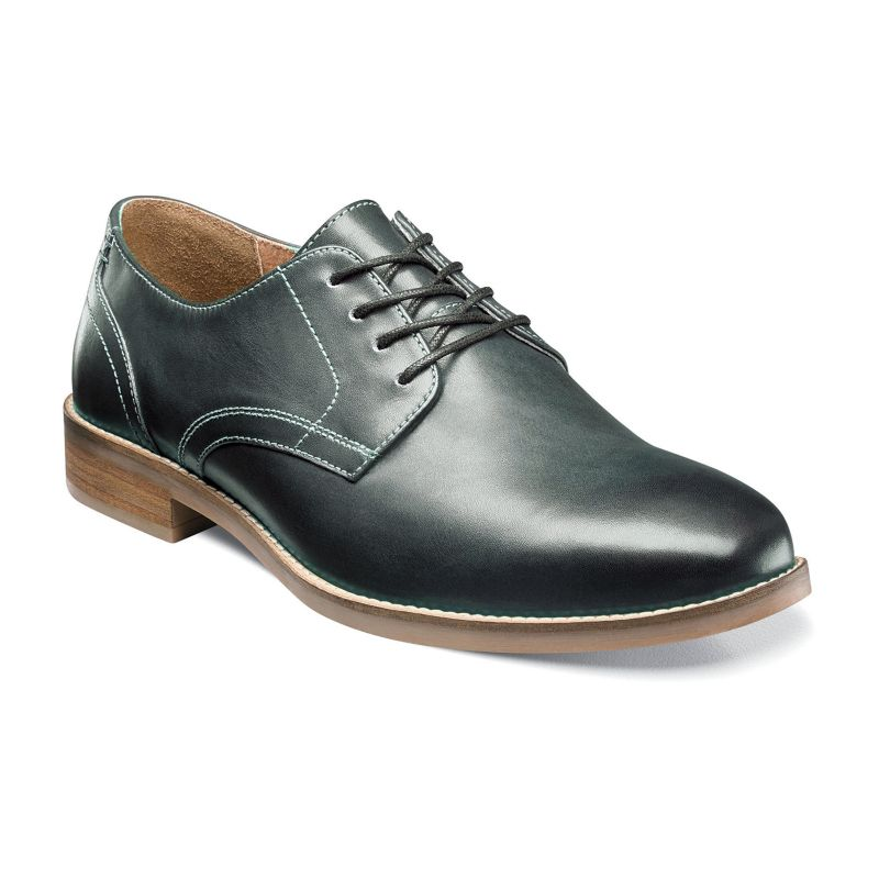 Nunn Bush Clyde Men's Plain Toe Oxford Dress Shoes, Size: 8 Wide, Grey (Charcoal) thumbnail
