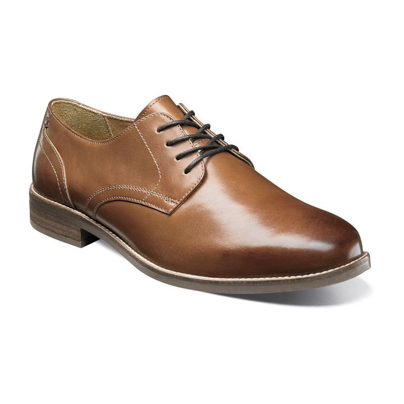 Nunn Bush Clyde Men's Plain Toe Oxford Dress Shoes, Size: 8 Wide, Red/Coppr (Rust/Coppr) thumbnail