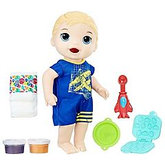 Baby Alive Super Snacks Snackin' Blonde Luke Baby Doll  by