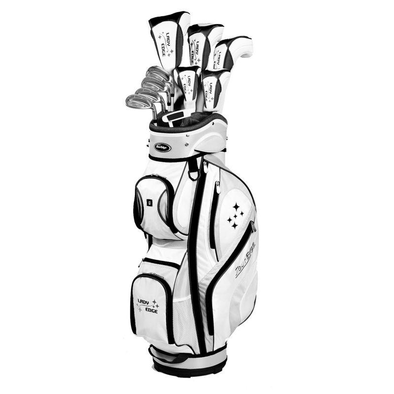 Women's Tour Edge Lady Edge Right Hand Complete Golf Club & Cart Bag Set, White thumbnail