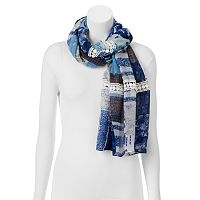 SONOMA Goods for Life™ Crochet Patchwork Oblong Wrap Scarf