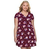 Juniors' Plus Size SO® Henley Swing Dress