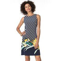 Women's Chaps Striped & Floral A-Line Dress