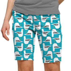 Women's Loudmouth Bird Print Bermuda Golf Shorts