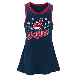 Baby Girl Majestic Cleveland Indians Criss-Cross Tank Dress