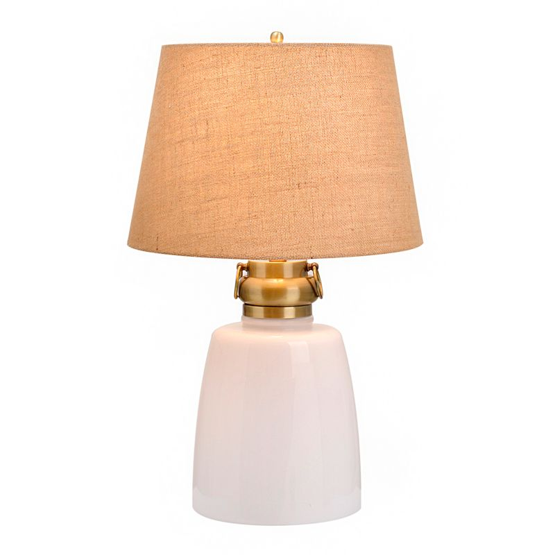 Catalina Lighting Milk Glass Table Lamp & Nightlight, White thumbnail