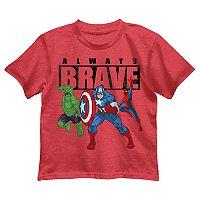 Boys 4-7 Marvel Avengers The Incredible Hulk, Captain America & Spider-Man Graphic Tee