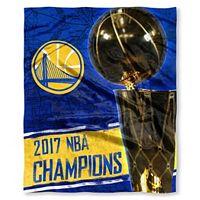 Golden State Warriors 2017 NBA Champions Silk-Touch Throw Blanket