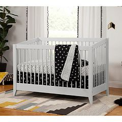 Babyletto Sprout 4-in-1 Convertible Crib with Toddler Bed Conversion Kit by