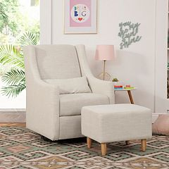 Babyletto Toco Swivel Glider & Stationary Ottoman by