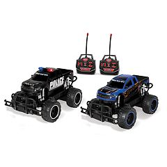 World Tech Toys Remote Control Ford F-150 Raptor Police Pursuit Double Pack