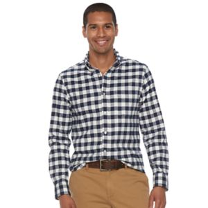 Men's SONOMA Goods for Life™ Flexwear Slim-Fit Plaid Oxford Button-Down Shirt