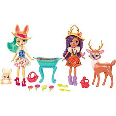 Enchantimals Garden Magic Fluffy Bunny Doll & Danessa Deer Doll Set by