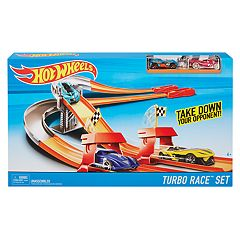 Hot Wheels Turbo Race & 2 Cars Track Set by Mattel by