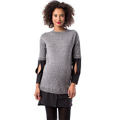 Maternity Pip & Vine by Rosie Pope Mock-Layer Sweaterdress