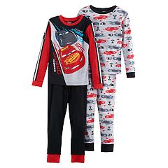 Boys 4-8 Disney Pixar Cars 4-Piece Pajama Set