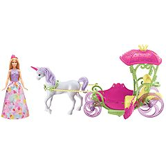 Barbie Dreamtopia Sweetville Carriage, Barbie Doll & Unicorn Set by