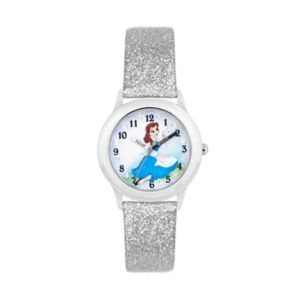Disney's Beauty and the Beast Belle Kids' Glittery Leather Time Teacher Watch