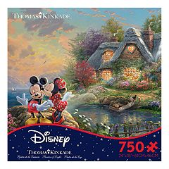 Disney's Mickey Mouse & Minnie Mouse Thomas Kinkade 750-piece Puzzle by Ceaco by