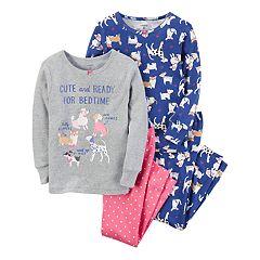 Girls 4-14 Carter's 4-pc. Dog Tops & Bottoms Pajama Set