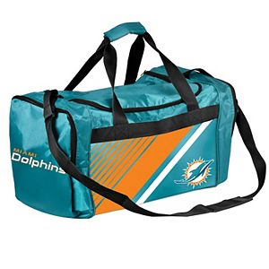 Forever Collectibles Miami Dolphins Striped Duffle Bag
