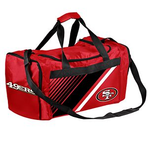 Forever Collectibles San Francisco 49ers Striped Duffle Bag