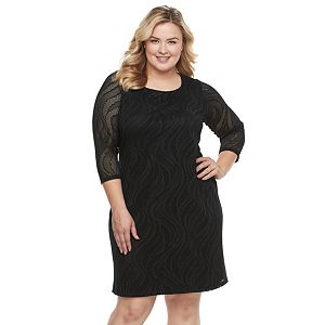 Plus Size Dana Buchman Lace Shift Dress