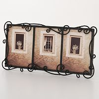 Fetco® Linear 3-Opening Wrought-Iron Collage Frame