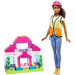 Barbie Brunette Builder Doll & Playset by Mattel by