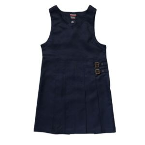 Girls 4-20 French Toast School Uniform Double Buckle Jumper!