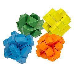 J.B. Nifty 4-Pack Wooden Puzzle Set
