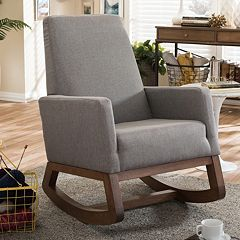 Baxton Studio Mid-Century Upholstered Rocking Chair  by