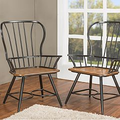 Baxton Studio Longford Arm Dining Chair 2-piece Set  by