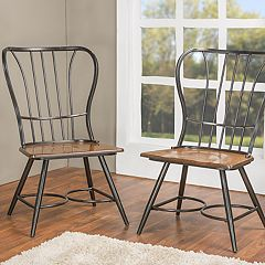 Baxton Studio Longford Armless Dining Chair 2-piece Set  by