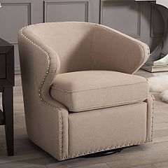 Baxton Studio Finley Swivel Tub Accent Chair by