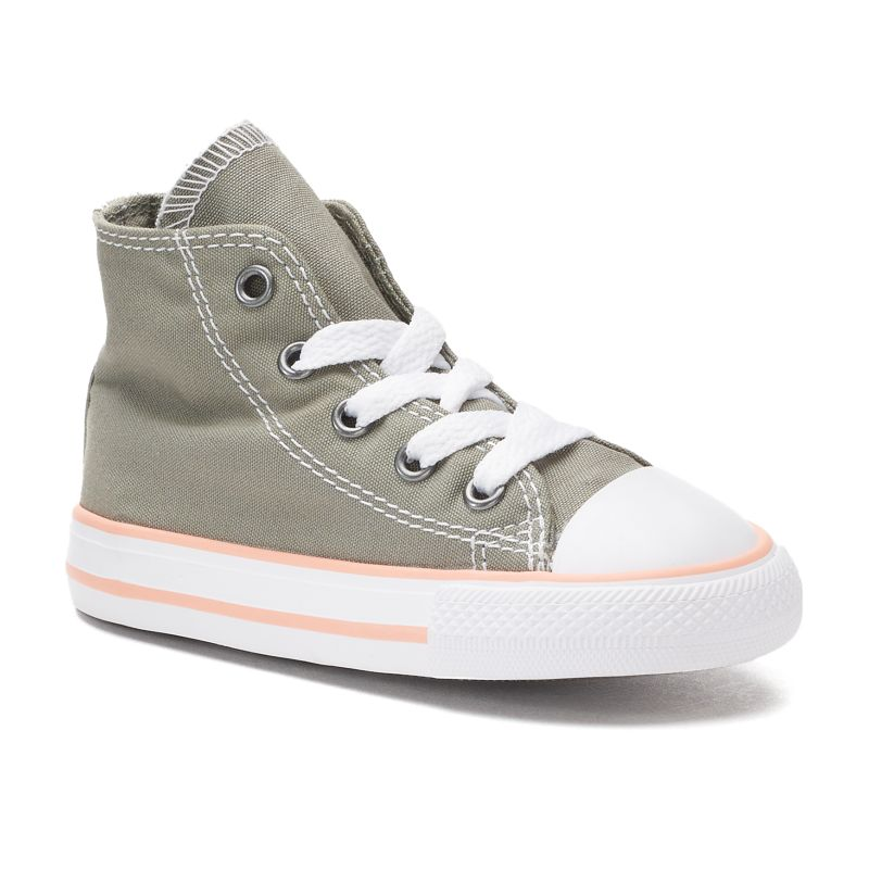 Baby / Toddler Girls' Converse Chuck Taylor All Star High-Top Sneakers, Size: 5 T, Brt Green thumbnail